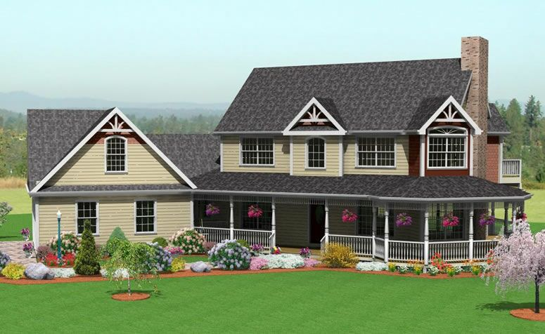 Design connection llc house plans house designs for Farmhouse house plans