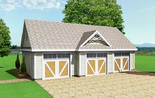 3 car garage plans from Design Connection, LLC - house plans ...