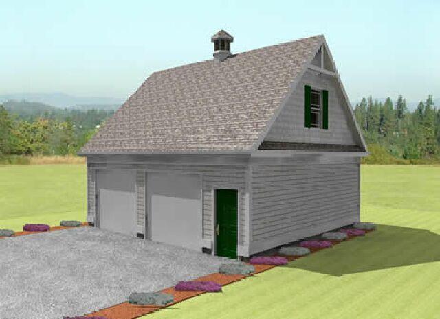 2 car garage plans from Design Connection LLC house plans – 1000 Sq Ft Garage Plans