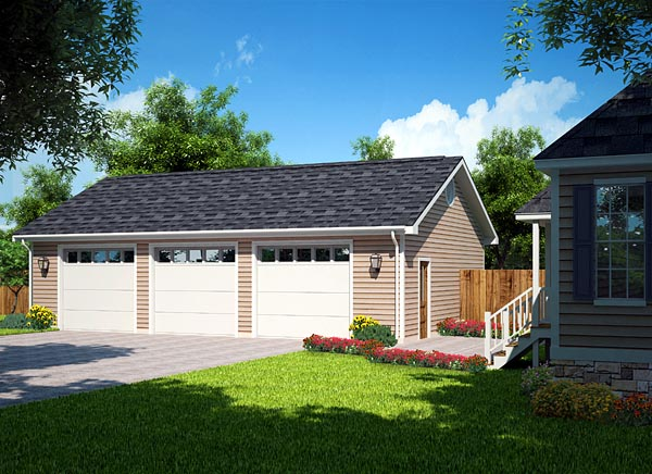 3 car garage plans from design connection llc house Triple car garage house plans