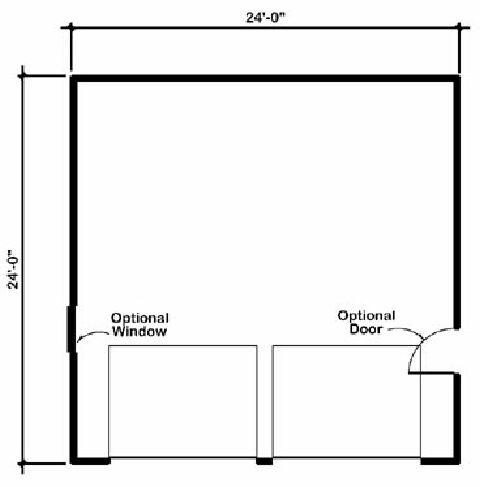 Design Connection LLC Garage Plans Garage Designs Plan detail – 28 X 24 Garage Plans