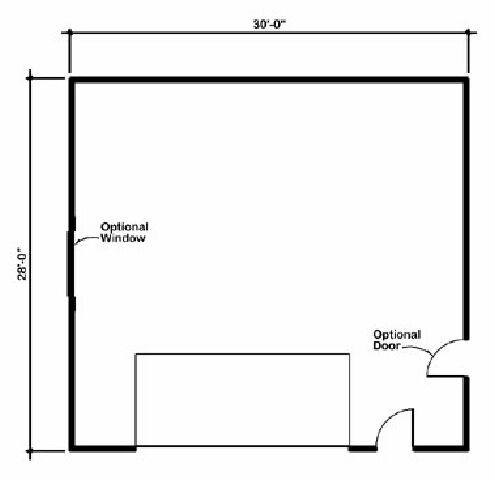 Design Connection LLC Garage Plans Garage Designs Plan detail – 32 X 40 Garage Plans