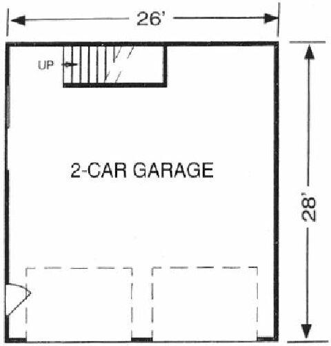 Garage Plans Blueprints 28 Ft X 28ft With Dormers: Garage Plans & Garage Designs