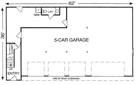 Design connection llc garage plans garage designs for 5 car garage plans