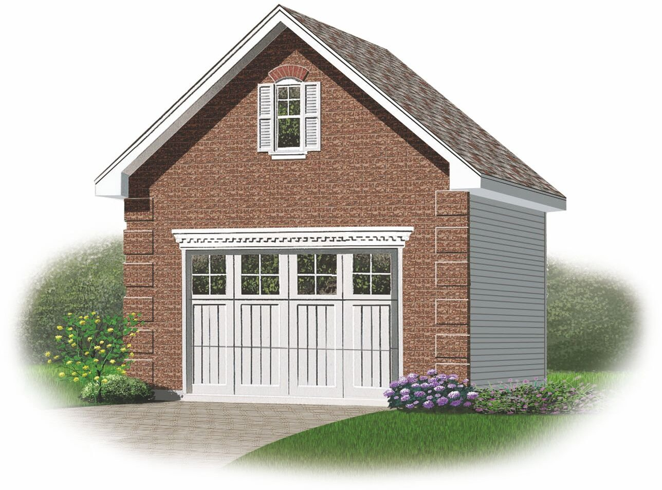 One car garage with loft quotes for Garage plans with loft