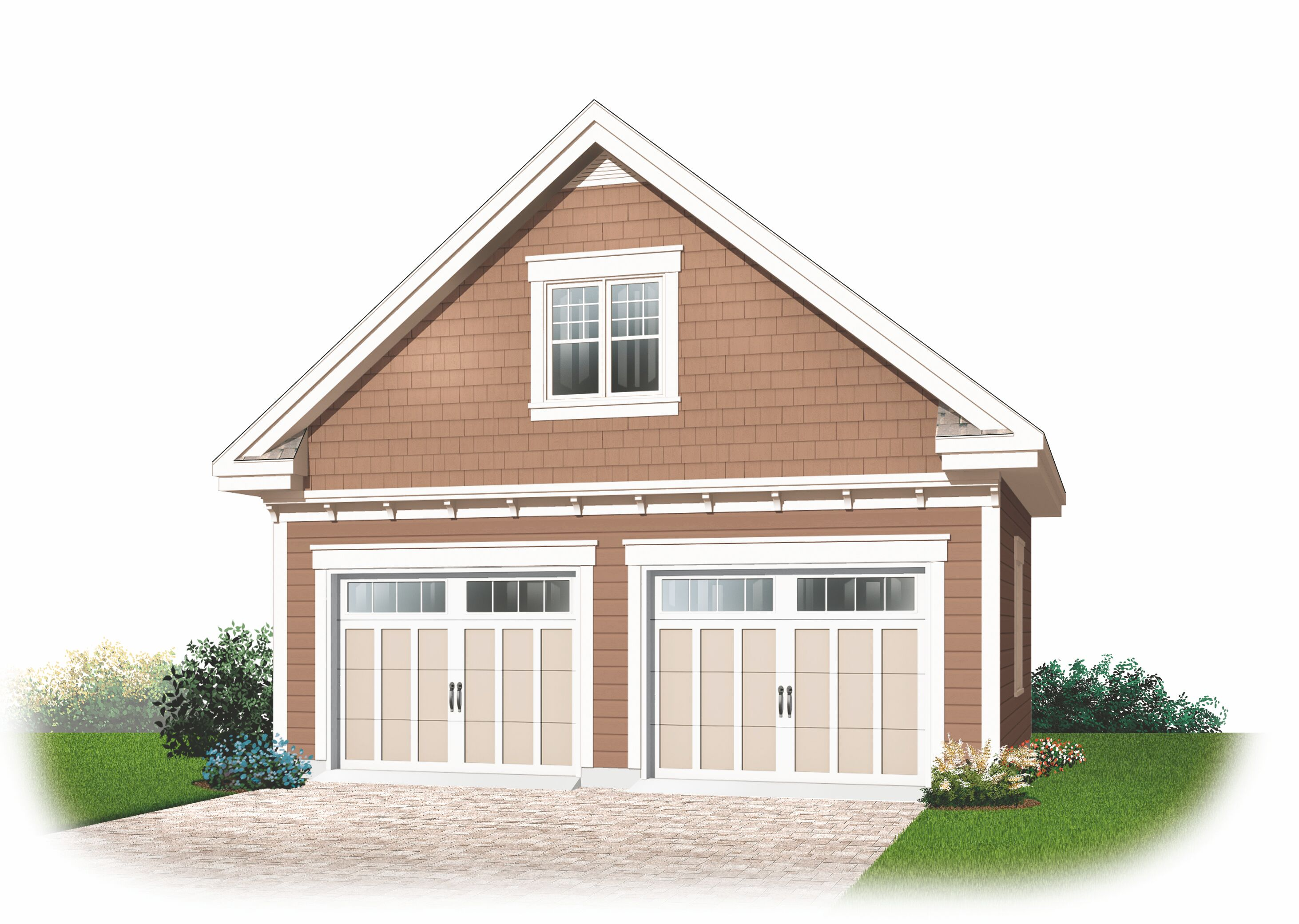 Garage plans with loft and house plans from design for 2 car garage house plans